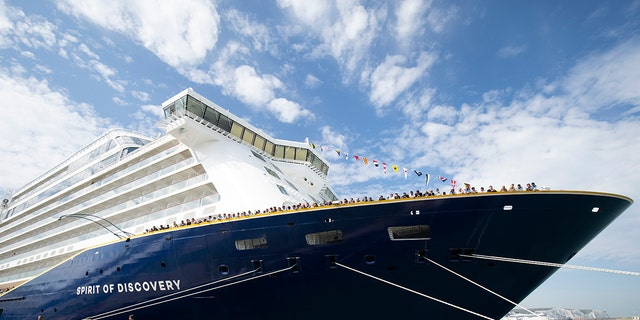 Saga's Spirit of Discovery cruise ship is due to dock in Southampton, outside of England, Wednesday after authorities at the Port of Gibraltar declined to allow passengers to leave the ship on Saturday because many on board were suffering from causes diarrhea, vomiting and fever.