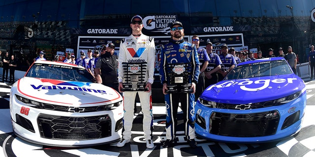 Alex Bowman and Ricky Stenhouse Jr. secured their spots on the front row for the Daytona 500.
