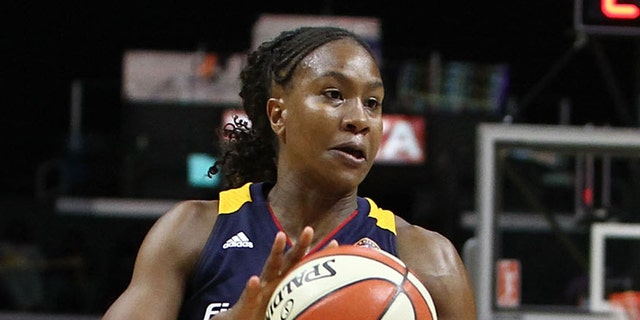 Tamika Catchings #24 of the Indiana Fever handles the ball against the Los Angeles Sparks in a WNBA game at Staples Center on August 18, 2015 in Los Angeles, California. (Photo by Leon Bennett/Getty Images)