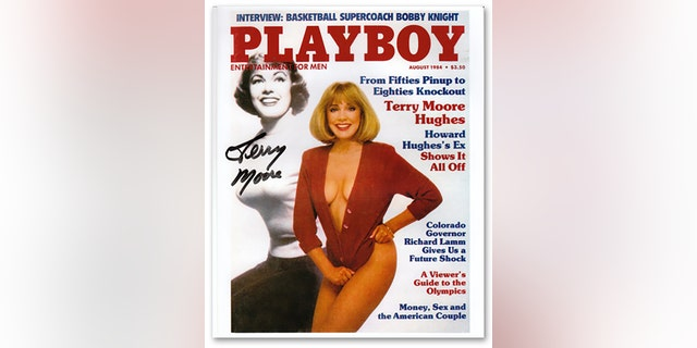 Terry Moore on the cover of Playboy magazine.