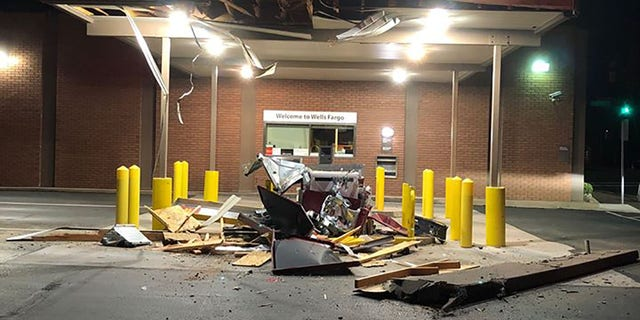 The robbers used a truck, a trailer, and unspecified heavy equipment in an unsuccessful bid to steal an ATM machine, police said.