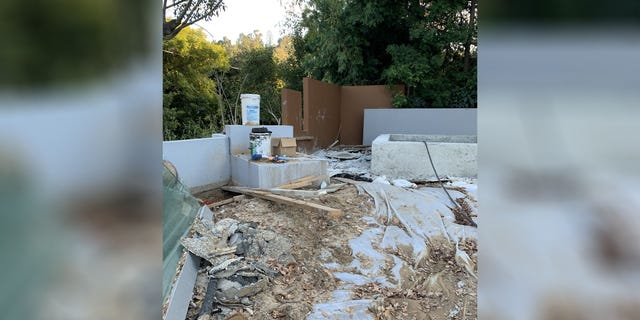 """The family described the """"luxury"""" villa as a """"bomb site,"""" with debris and broken glass scattered around."""
