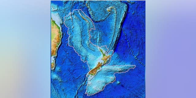 A topographic map of Zealandia can be seen above. (NOAA)