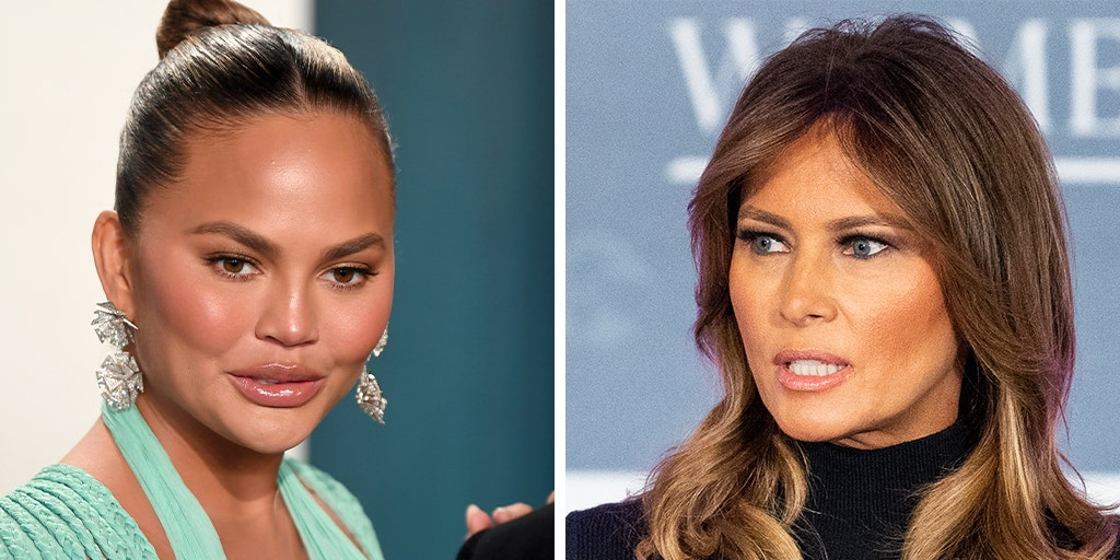 Image result for Chrissy Teigen slams 'wifebot' Melania Trump in curse-filled tweets over coronavirus response