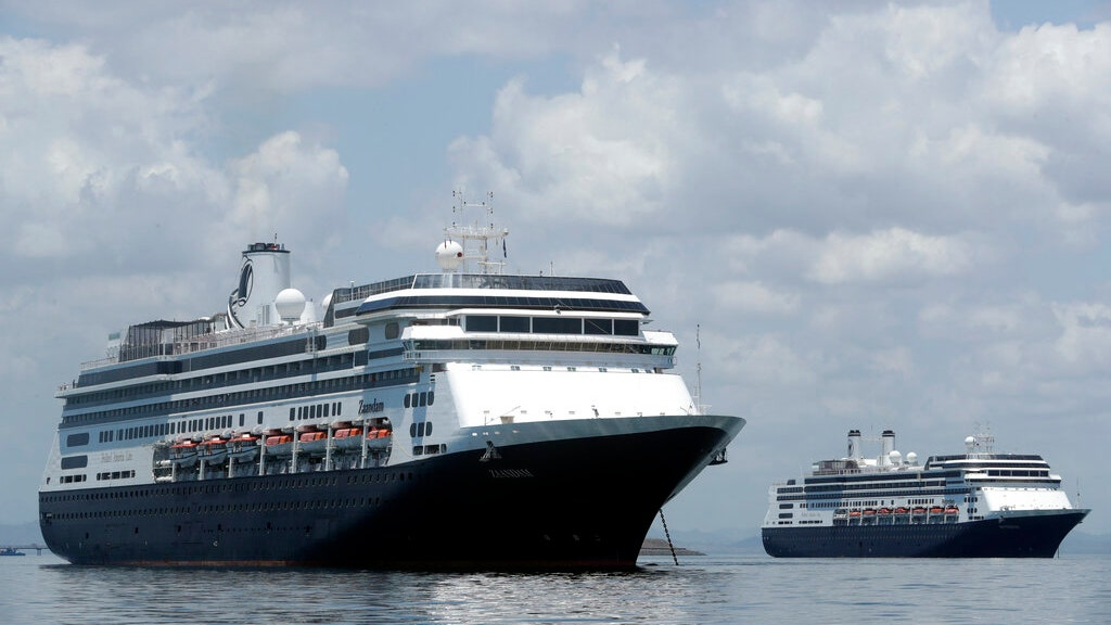 2 cruise chips carrying sick passengers sail into port