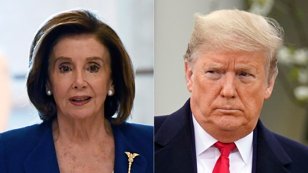 Pelosi snaps at reporter who mentions Trump in coronavirus bill question