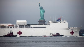 Pictures: USNS Comfort hospital ship arrives in New York City