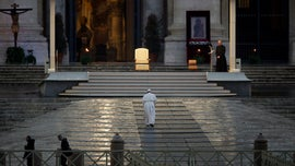 Useless and impotent Pope Francis, in desolate St. Peter's Square, prays for end to coronavirus AP20087666127697