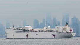 USNS Comfort hospital ship arrives in New York harbor amid coronavirus outbreak