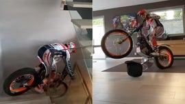 Motorcycle champ Toni Bou stunts around his house during coronavirus quarantine
