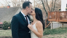 Nurse, first responder marry in yard with family 'virtually present' after coronavirus crisis derails wedding
