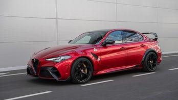 New Alfa Romeo Giulia GTAm sports sedan has 4 doors, 2 seats