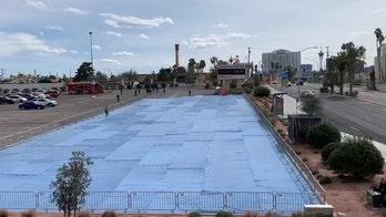 Las Vegas parking lot turned into temporary homeless shelter after coronavirus case shuts facility