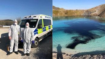 Coronavirus lockdown spurs police in England to dye 'Blue Lagoon' black to deter Instagrammers