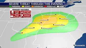 Strong to severe thunderstorms possible for parts of South including Tennessee