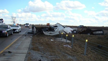 Indiana crashes that shut interstate blamed on 'strong gust of wind' that sent trailer 'airborne,' police say
