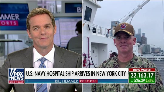 USNS Comfort commanding officer on arrival in NYC: 'Excited to be here and excited to get started'