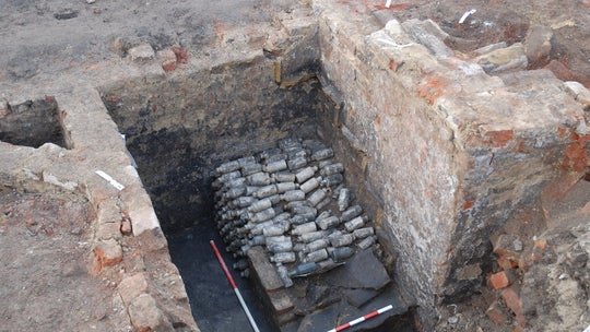 19th century beer bottles found under staircase in England