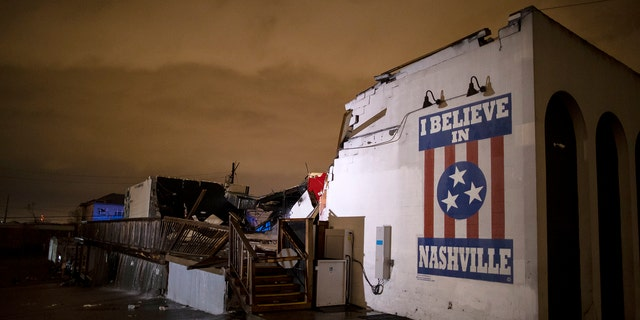 A tornado passed through Nashville just after midnight leaving a wake of damage in its path including two people killed in East Nashville.
