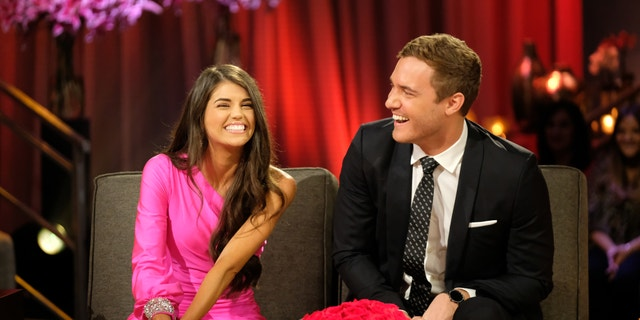 """Peter and Madison discuss where they left off in the hot seat during the second night of the live special, season finale event of """"The Bachelor."""""""