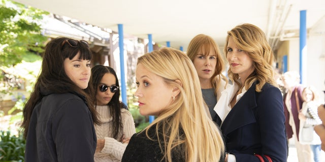 (L-R): Shailene Woodley, Zoë Kravitz, Reese Witherspoon, Nicole Kidman, Laura Dern in 'Big Little Lies.'