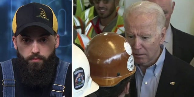 Jerry Wayne (L) is the worker Biden got into an argument with at the Fiat Chrysler plant in Detroit Tuesday.