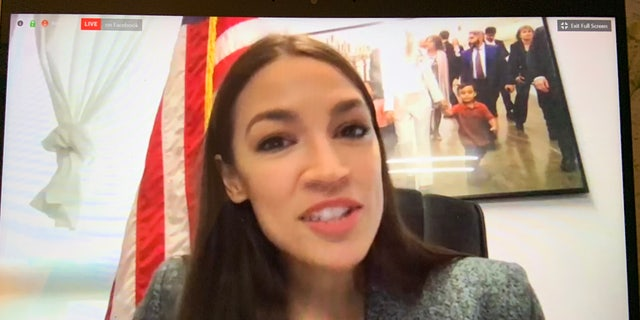 Rep. Alexandria Ocasio-Cortez, D-N.Y., blasts the coronavirus response during a virtual town hall Saturday.