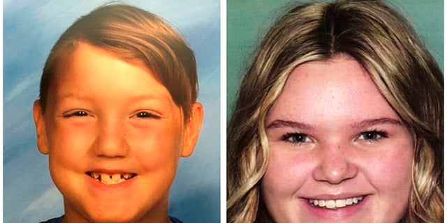 This combination photo of undated file photos shows missing children, Joshua Vallow, left, and Tylee Ryan. (National Center for Missing & Exploited Children via AP, File)