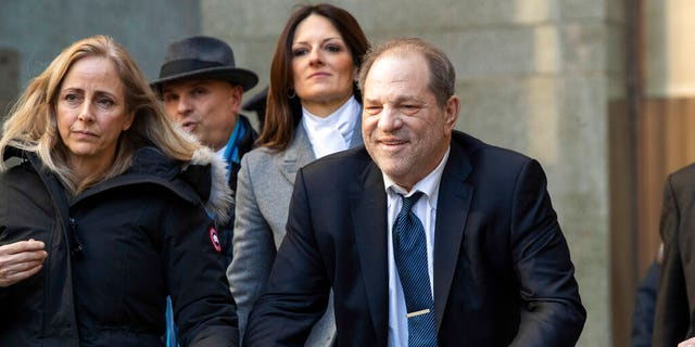 Harvey Weinstein has been convicted of rape and sexual assault in New York and faces similar charges in California. (AP Photo/Mary Altaffer, File)