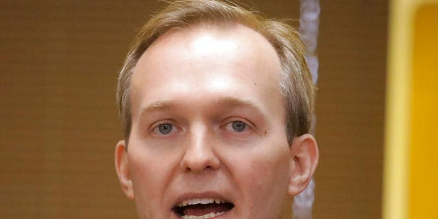 Rep. Ben McAdams, seen here in December 2019, announced he was hospitalized while battling the coronavirus. (AP Photo/Rick Bowmer, File)