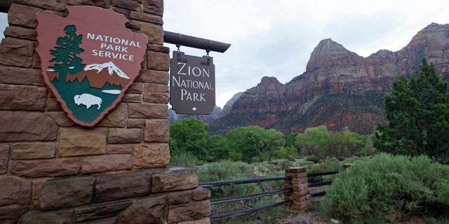 This file photo shows Zion National Park near Springdale, Utah. (AP Photo/Rick Bowmer, File)
