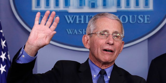 Dr. Anthony Fauci, director of the National Institute of Allergy and Infectious Diseases, speaks about the coronavirus in the James Brady Briefing Room last week. A Long Island, N.Y. restaurant has named a dish after Fauci. (AP Photo/Alex Brandon)