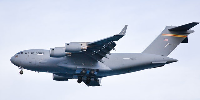 An Air Force C-17 cargo plane flew the coronavirus testing kits from Italy to Tennessee, reports say.