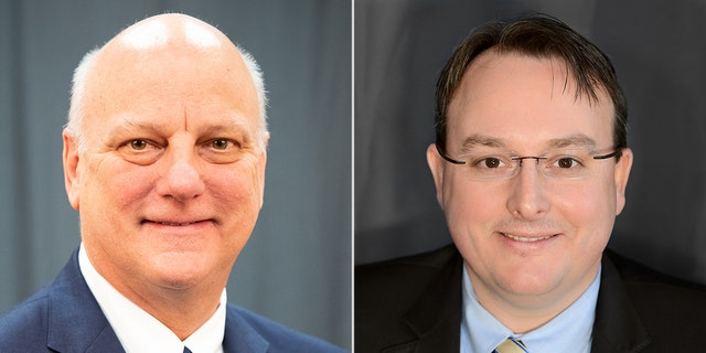 Georgia Sen. Brandon Beach (L) and Rep. Scot Turner (R) in their official headshots for the Georgia state legislature. (senate.ga.gov/house.ga.gov)