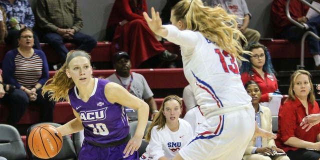 Breanna Wright led Abilene Christian to a Southland title in 2019. (Photo by George Walker/Icon Sportswire via Getty Images)