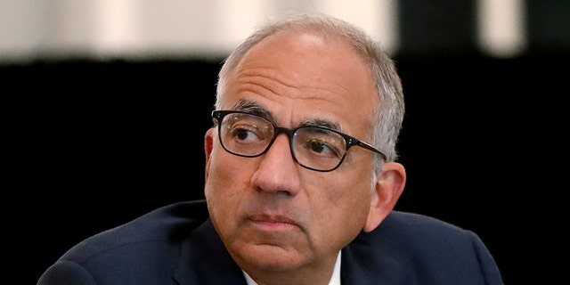 U.S. Soccer President Carlos Cordeiro presides over a meeting of the U.S. Soccer Board of Directors in Chicago, Dec. 6., 2019. (Associated Press)