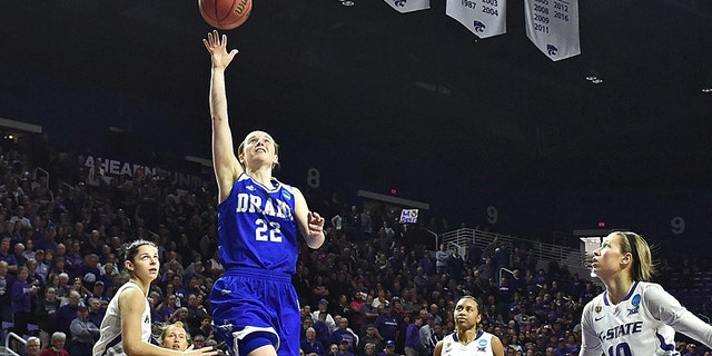 Caitlin Ingle was the MVP of the Missouri Valley Conference tournament in 2017. (Photo by Peter G. Aiken/Getty Images)