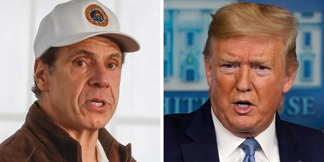 President Trump praised New York Gov. Andrew Cuomo for his handling of the coronavirus in the state.