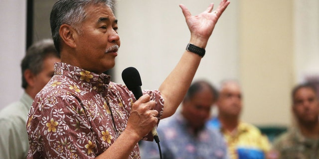 This week, Hawaii Governor David Ige (seen here at an earlier event) urged visitors to postpone their trips to Hawaii for at least 30 days.