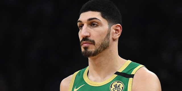 Enes Kanter #11 of the Boston Celtics walks backcourt during a game against the Milwaukee Bucks at Fiserv Forum on January 16, 2020 in Milwaukee, Wisconsin.