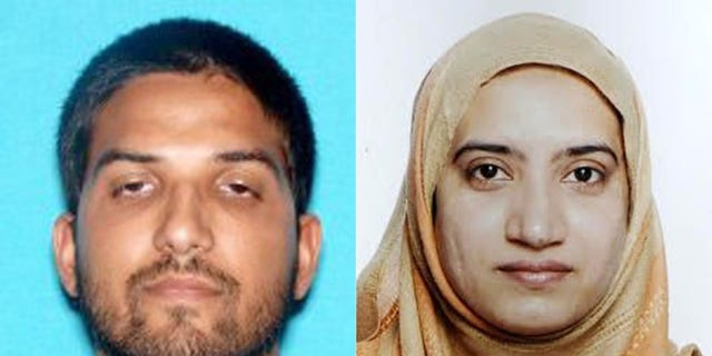 San Bernardino, Calif., terror assailants Syed Rizwan Farook, left, and Tashfeen Malik. (Associated Press)