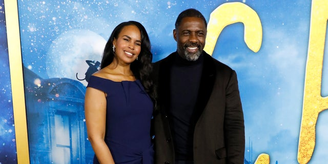 "Sabrina Dhowre and Idris Elba attend the world premiere of ""Cats"" at Alice Tully Hall, Lincoln Center on December 16, 2019 in New York City."