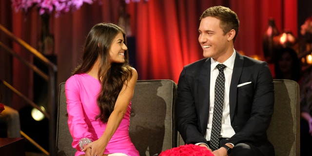 "THE BACHELOR - ""The Bachelor: Season Finale Part 2"" - Peter and Madison discuss where they left off in the hot seat during the second night of the live special, season finale event of ""The Bachelor,"" TUESDAY, MARCH 10 (8:00-10:01 p.m. EDT), on ABC. (John Fleenor via Getty Images) MADISON, PETER WEBER"