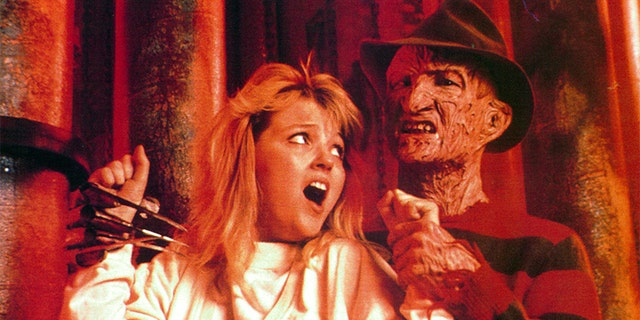 Robert Englund in movie art for the film 'A Nightmare On Elm Street 4: The Dream Master', 1988.