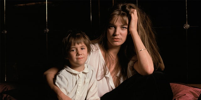 British singer and actress Jane Birkin and her daughter Charlotte, she had with French singer and songwriter Serge Gainsbourg.