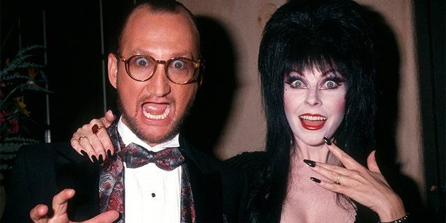 Robert Englund and Elvira.