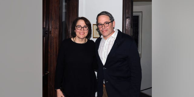 Actor Matthew Broderick and his sister Reverend Janet Broderick backstage at the reading of 'Truman Capote's A Christmas Memory' A Reading By Matthew Broderick at St Peter's Episcopal Church on January 5, 2018 in Morristown, New Jersey.