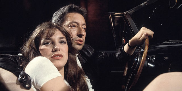 Jane Birkin and Serge Gainsbourg, circa 1974 France.