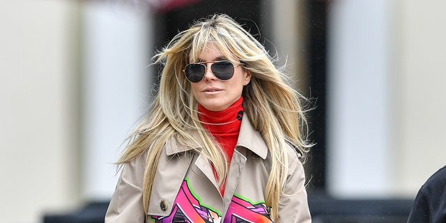 Heidi Klum is seen on March 10 before retreating home due to an illness.