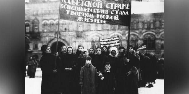 Russian women on International Women's Day in 1925.